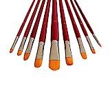 9 Künstlerpinsel Set Katzenzungen Pinselset Zungenpinsel Pinsel für Acryl Aquarell