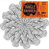 Tangle Rahmen Inspiration, 20x20 cm, zum Malen mit Farben oder allen Stiftarten