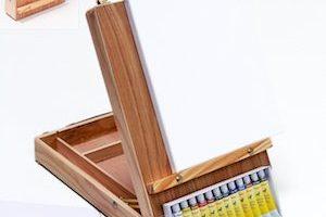 tischstaffelei malen mit acryl