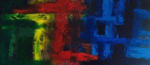 Acrylbild acrylfarben grundfarben abstrakt